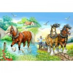 Puzzle  The-House-of-Puzzles-1417 XXL Pieces - Gentle Giants