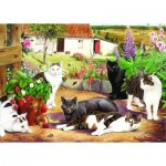 Puzzle  The-House-of-Puzzles-1585 XXL Pieces - Cool Cats