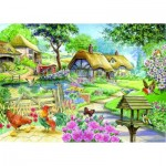 Puzzle  The-House-of-Puzzles-1592 XXL Pieces - Cottage - Country Living