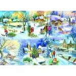 Puzzle  The-House-of-Puzzles-1622 XXL Pieces - Snowy Afternoon