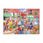 Puzzle  The-House-of-Puzzles-1837 XXL Pieces - In The Town