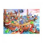Puzzle  The-House-of-Puzzles-1851 XXL Pieces - Pirates Ahoy