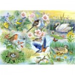 Puzzle  The-House-of-Puzzles-1899 XXL Pieces - Feathered Friends