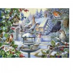Puzzle  The-House-of-Puzzles-2247 XX Pieces - Winter Birds