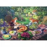 Puzzle  The-House-of-Puzzles-2414 XXL Pieces - Garden Party