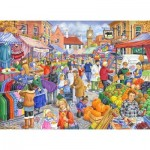 Puzzle  The-House-of-Puzzles-2452 XXL Pieces - Market Day