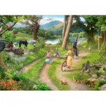 Puzzle  The-House-of-Puzzles-3404 XXL Pieces - Family Day Out