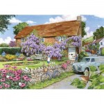 Puzzle  The-House-of-Puzzles-3473 XXL Pieces - Wisteria Cottage