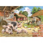 Puzzle  The-House-of-Puzzles-3534 XXL Pieces - Poppy's Piglets