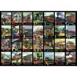 Puzzle  The-House-of-Puzzles-3718 XXL Pieces - A to Z of Rail