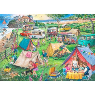 Puzzle The-House-of-Puzzles-3824 Find the Differences No.10 - Camping