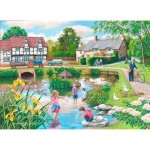 Puzzle  The-House-of-Puzzles-4104 XXL Pieces - Duck Pond