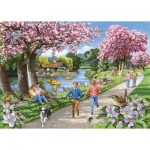 Puzzle  The-House-of-Puzzles-4326 XXL Pieces - Apple Blossom Time