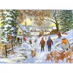 Puzzle  The-House-of-Puzzles-4388 XXL Pieces - Snowy Walk
