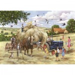 Puzzle  The-House-of-Puzzles-4548 XXL Pieces - Making Hay