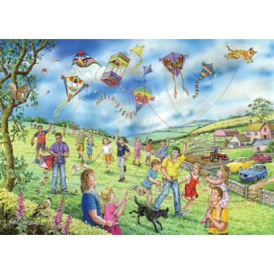 Puzzle The-House-of-Puzzles-4807 XXL Pieces - Darley Collection - Let's Go Fly a Kite
