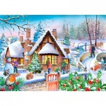 Puzzle  The-House-of-Puzzles-4814 XXL Pieces - Darley Collection - Snowy Cottage