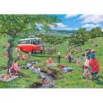 Puzzle  The-House-of-Puzzles-4821 XXL Pieces - Darley Collection - Sunday Picnic