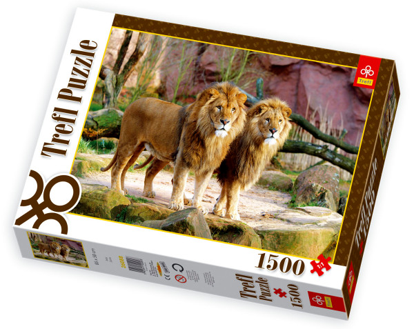 jigsaw puzzle 1500 pieces lions trefl 26088 1500. Black Bedroom Furniture Sets. Home Design Ideas