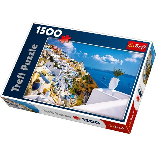 jigsaw puzzle 1500 pieces santorini greece trefl. Black Bedroom Furniture Sets. Home Design Ideas