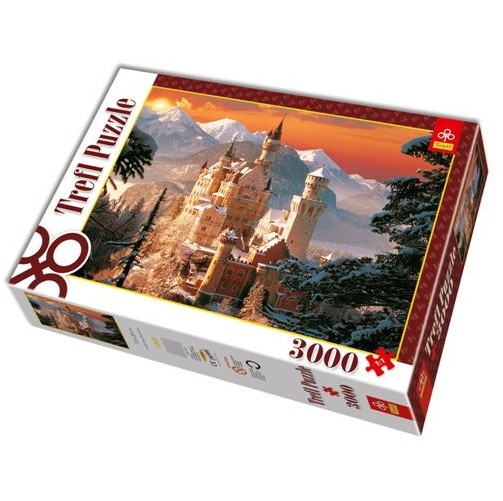 jigsaw puzzle 3000 pieces neuschwanstein castle in the wintertime trefl 33025 3000 pieces. Black Bedroom Furniture Sets. Home Design Ideas