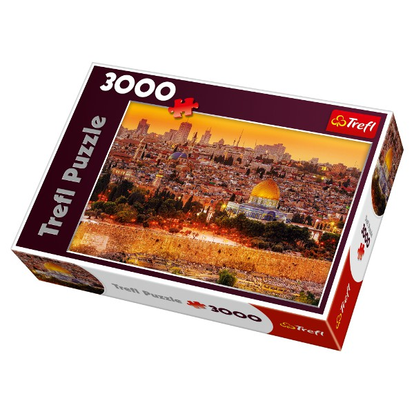 jigsaw puzzle 3000 pieces roof tops of jerusalem trefl. Black Bedroom Furniture Sets. Home Design Ideas
