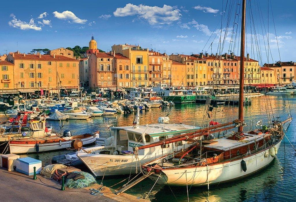 Puzzle Old Port In Saint Tropez Trefl 26130 1500 Pieces Jigsaw