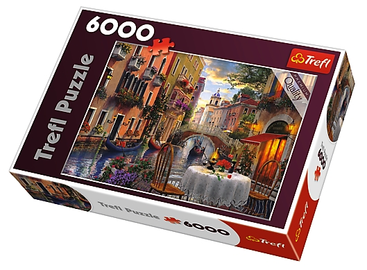 puzzle romantic venice trefl 65003 6000 pieces jigsaw. Black Bedroom Furniture Sets. Home Design Ideas