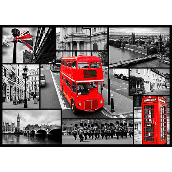 Jigsaw Puzzle - 1000 Pieces - London : Collage