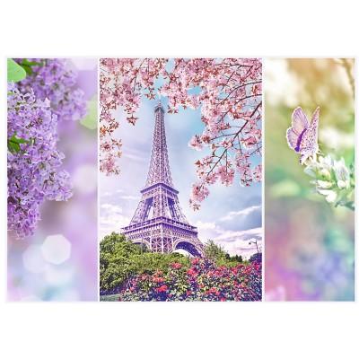 Puzzle Trefl-10409 Spring in Paris
