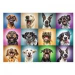Puzzle  Trefl-10462 Funny Dog Portraits