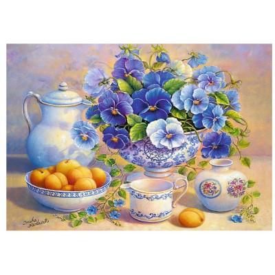 Puzzle Trefl-10466 Blue Bouquet