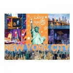 Puzzle  Trefl-10579 Neon Color Line - New York City