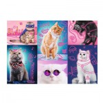 Puzzle  Trefl-10581 Neon Color Line - Cats