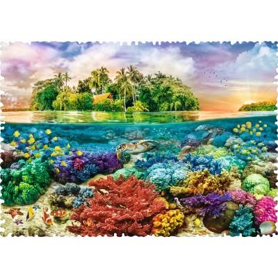 Puzzle Trefl-11113 Crazy Shapes - Tropical Island