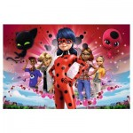 Puzzle  Trefl-13227 XXL Pieces - Miraculous - Lady Bug