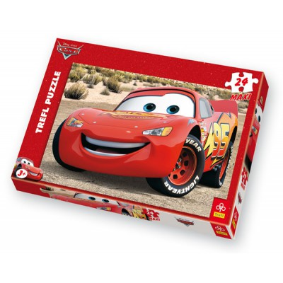 Trefl-14082 Jigsaw Puzzle - 24 Pieces - Cars : Flash Mc Queen