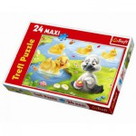 Trefl-14128 Maxi Puzzle: The ugly duckling