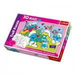 Puzzle  Trefl-14168 Maxi Pieces Recto / Verso: Courting the Smurfette