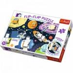 Trefl-14272 Flip Flap Puzzle - Space
