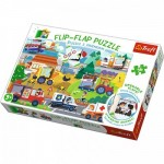 Trefl-14273 Flip Flap Puzzle - Vehicles