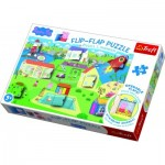 Trefl-14274 Flip-Flpa Puzzle - Peppa Pig