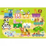 Puzzle  Trefl-14278 XXL Pieces - Train with Numbers