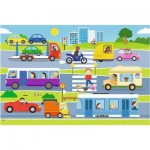 Puzzle  Trefl-14279 XXL Pieces - Vehicles in the City