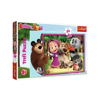 Puzzle Trefl-14301 XXL Pieces - Masha & the Bear