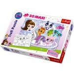 Puzzle  Trefl-14409 Maxi Pieces Recto / Verso: Petshop