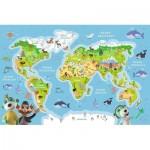 Puzzle  Trefl-15552 World Map (in Polish)