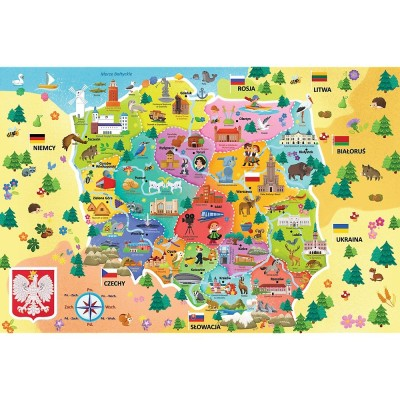 Puzzle Trefl-15556 Map of Poland (in Polish)