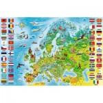Puzzle  Trefl-15558 Map of Europe (in Polish)