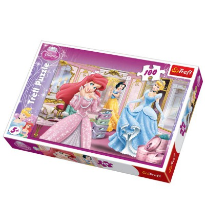 Trefl-16186 Jigsaw Puzzle - 100 Pieces - Disney Princesses : Ready for the Ball